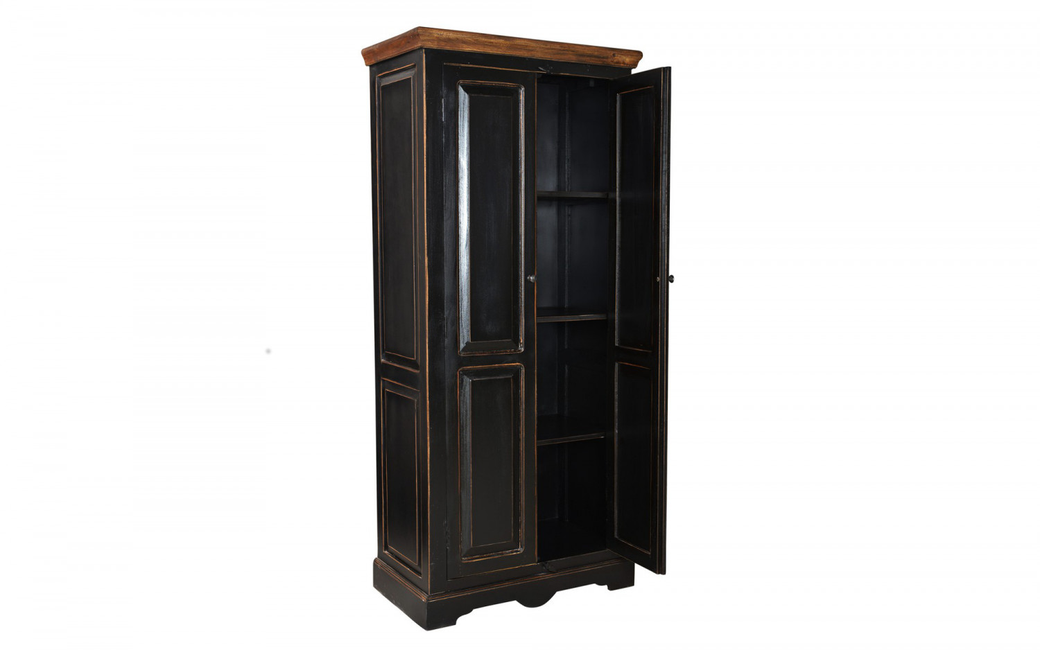 excl baidani designer schrank ebony breite 80cm mediterraner antik look schwarz baidani shop. Black Bedroom Furniture Sets. Home Design Ideas