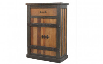 Excl. Baidani Designer Highboard CASTLE Holz massiv Antik-Optik