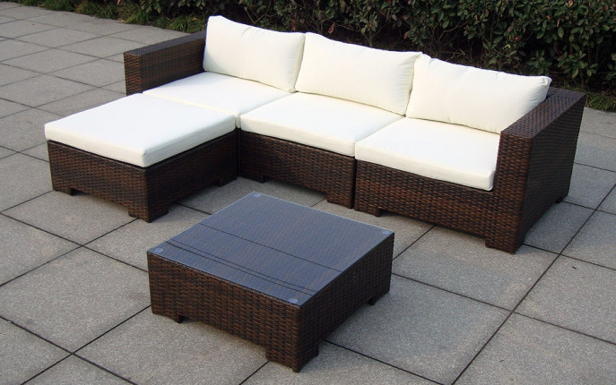 Baidani rattan garten lounge garnitur beach baidani shop for Lounge garnitur garten