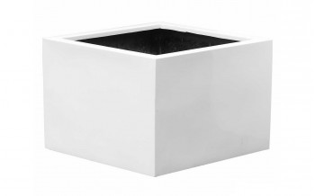 Pottery Pots Jumbo Middle High L, White