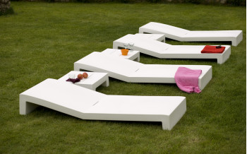 VONDOM Designer SONNENLIEGE JUT COLLECTION