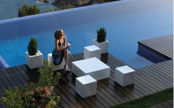VONDOM Designer HOCKER QUADRAT COLLECTION 40x40cm