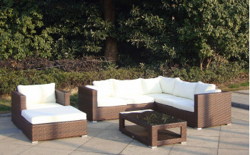 Baidani Rattan Garten Lounge Sunset Select