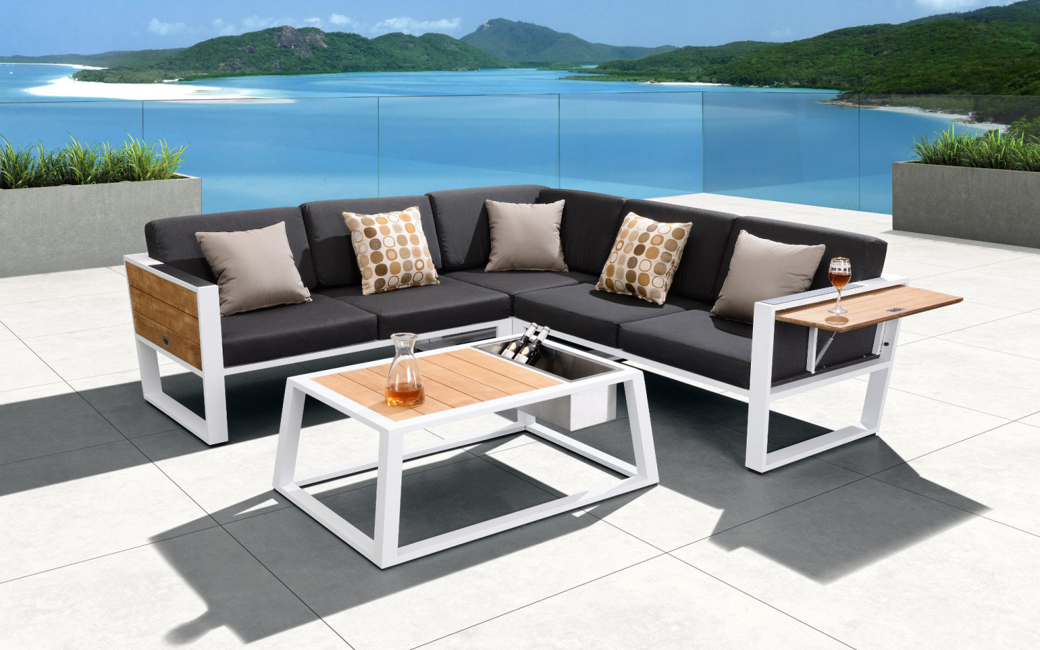 Awesome Baidani Alu Garten Eck Lounge Set Leros With Lounge Set Garten