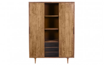 Baidani Highboard Fifties 130x180cm Akazie natur