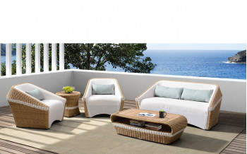 Baidani Rattan Garten Lounge Set medium Lugano