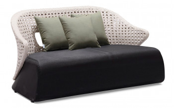 Baidani  Rattan Garten-Double-Sofa Nancy
