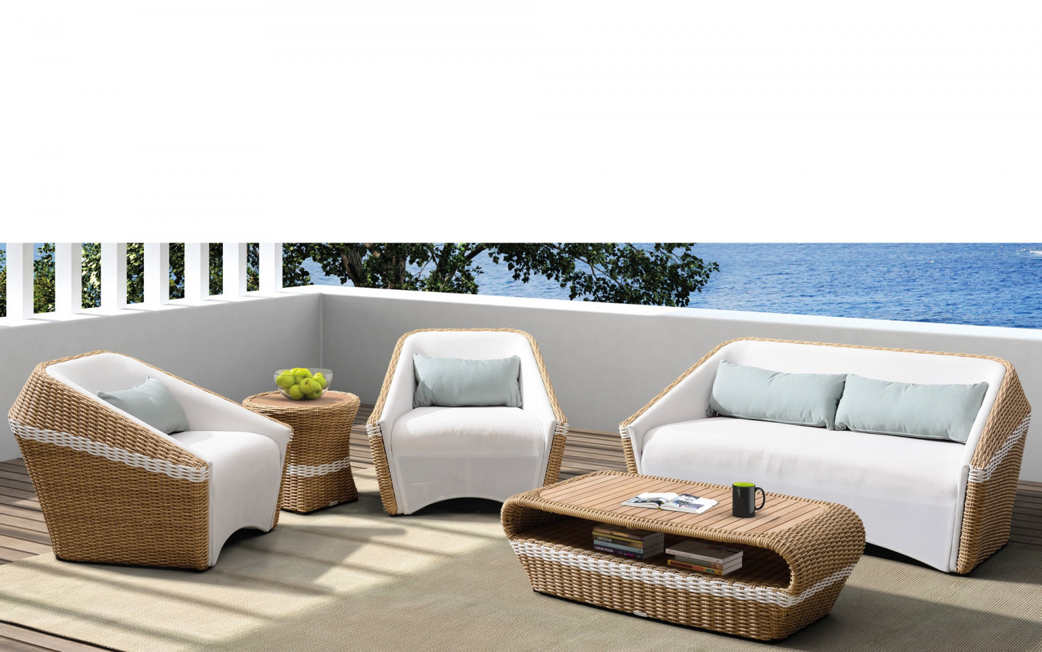 ... Baidani Rattan Garten Lounge Set Medium Lugano ...