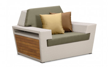 Baidani Garten Rattan Single-Sofa Kreta