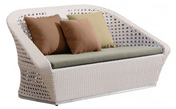 Baidani Rattan Garten-Double-Sofa Marly