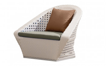 Baidani Rattan Garten-Single-Sofa Marly