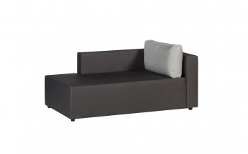 Baidani Garten-Chaiselongue, anthrazit Maxx